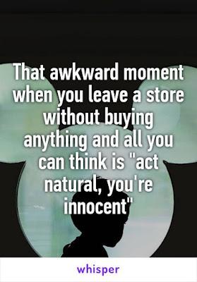 Act natural
