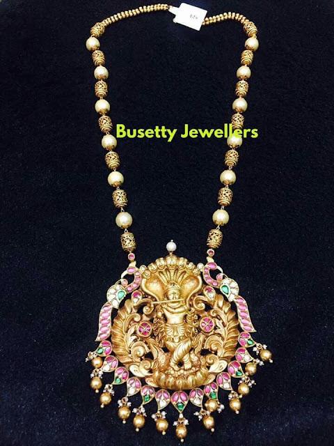 Krishna Pendant with Gold Balls Chain