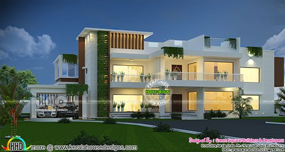 5540 sq-ft 4 bedroom modern contemporary house