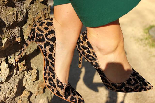 escarpins leopard Cosmoparis, jupe culotte Zara, look du jour, les petites bulles de ma vie