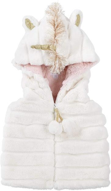 Cute Hooded Faux Fur Vest For Kids Girls