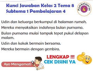 Kunci Jawaban Kelas 2 Tema 8 Subtema 1 Pembelajaran 4 www.simplenews.me