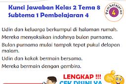 LENGKAP !!! Kunci Jawaban Kelas 2 Tema 8 Subtema 1 Pembelajaran 4