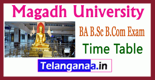 Magadh University BA B.Sc B.Com Exam Time Table