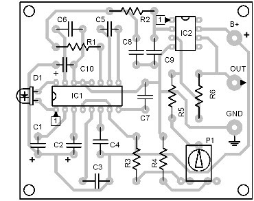 Parts-Placement-Layout-Infrared-Interface-(Receiver Circuit)