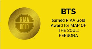 BTS Map of the Soul Gold Certification USA