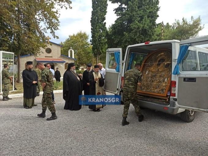 Συγκίνηση: Τη θαυματουργή εικόνα της Παναγίας Γοργοϋπηκόου και Σταυρό με τίμιο ξύλο προσκύνησαν Καταδρομείς της Ρεντίνας