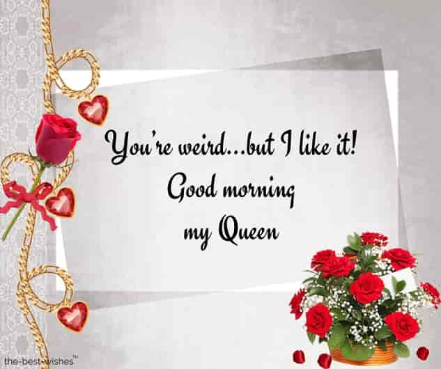 good morning my queeen msg