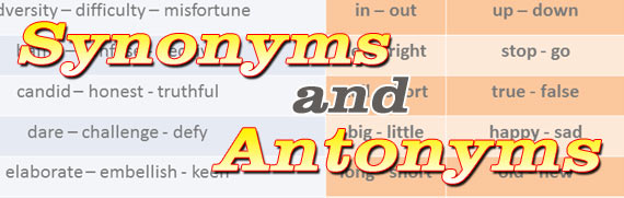 100+ Words with Synonyms and Antonyms - Complete Alphabetical List
