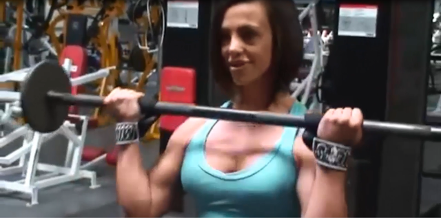 Clip Body building Female bodybuilder muscle