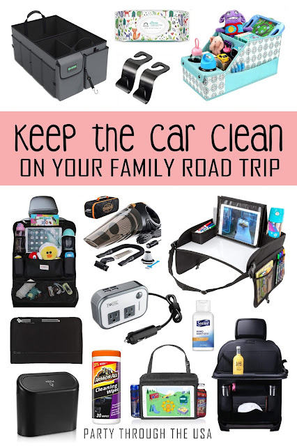 Using a checklist to help keep the car cleaner on a road trip.  Put the kids to work by making them earn their special treats and surprise toys.  Free printable list with pictures for pre-readers.