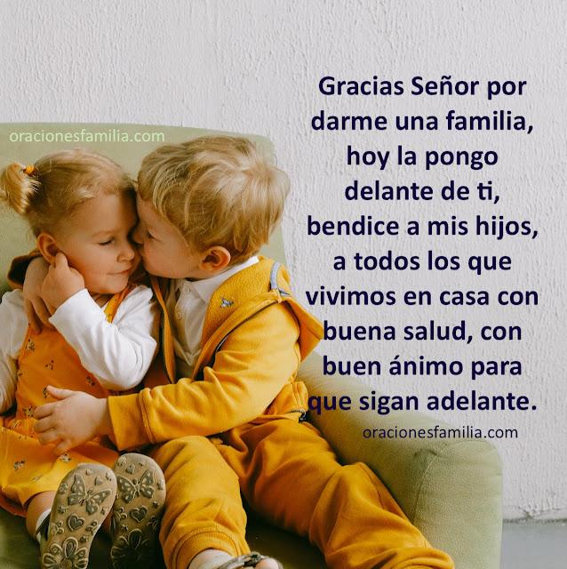 bonita oración corta por los hijos, por la familia para pedir bendiciones