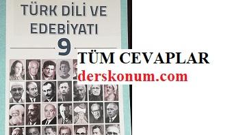 9.Sınıf Türk Dili ve Edebiyatı Kitap Cevapları