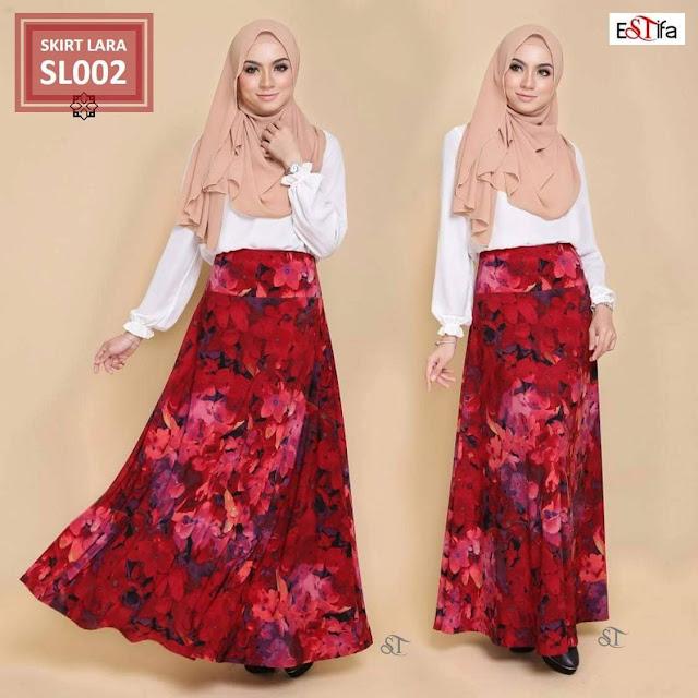 Skirt Lara , Estifa , Jual Pakaian Mulimah , Blouse Muslimah