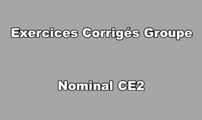 Exercices Corrigés Groupe Nominal CE2