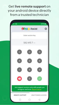 Screenshot Zoho Assist Customer - Apcoid