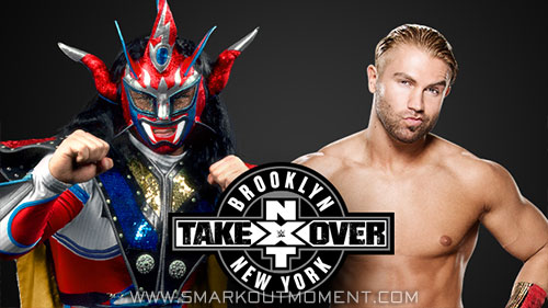 WWE NXT TakeOver Brooklyn Justin Thunder Liger vs Tyler Breeze