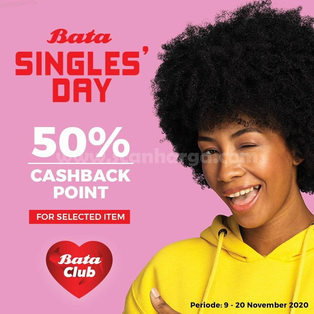 Promo BATA Single's Day 50% Cashback point khusus Bata Club Member