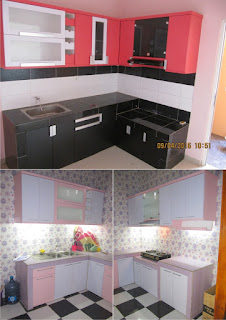 Kitchen Set Warna Pink + Furniture Semarang