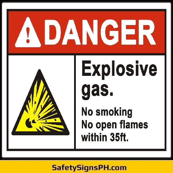 Danger Explosive Gas Signage Philippines