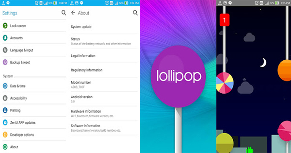 Game Tersembunyi Di Android 5.0 Lollipop