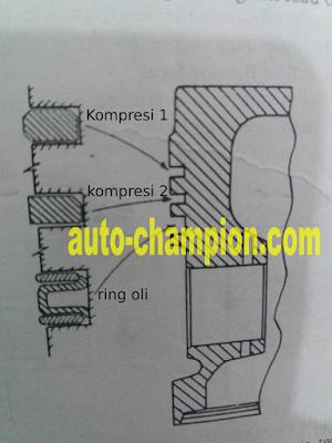 beda ring kompresi motor 4 tak