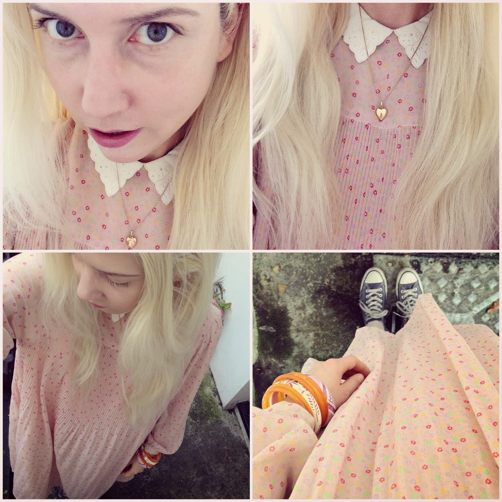 A vintage dress from Absolute Vintage and its sister store Blondie