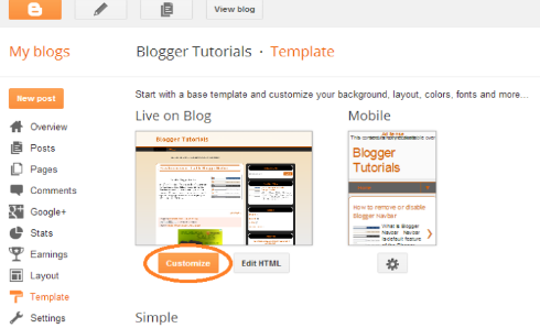How to switch blogspot templates on blogger