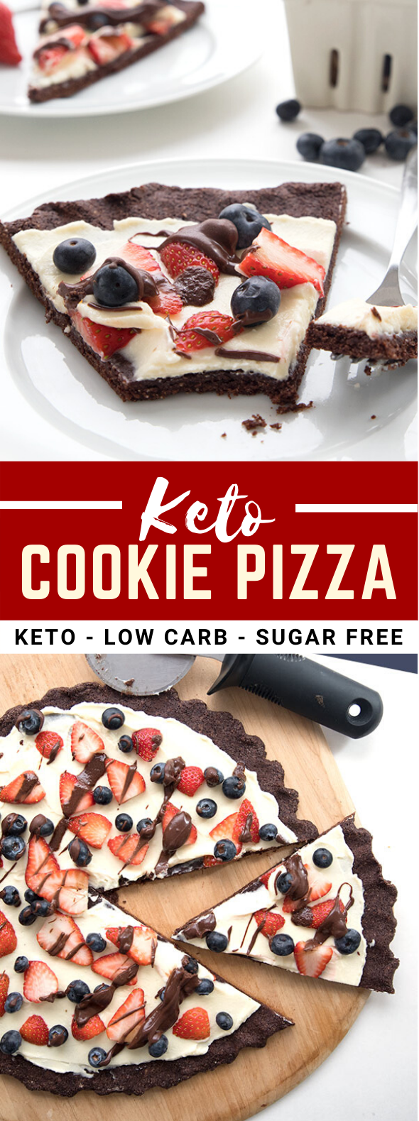 KETO COOKIE PIZZA #healthydessert #lowcarb