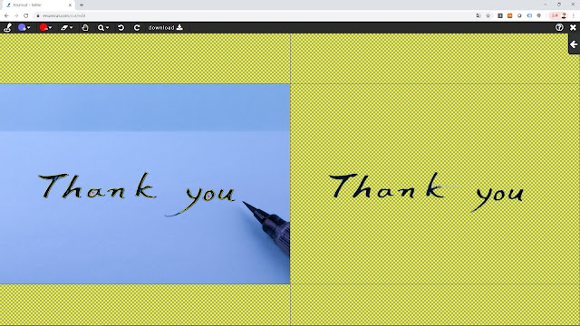 [ Enumcut ] Thank you (calligraphy) Photo - Remove Background From Image  (Example)