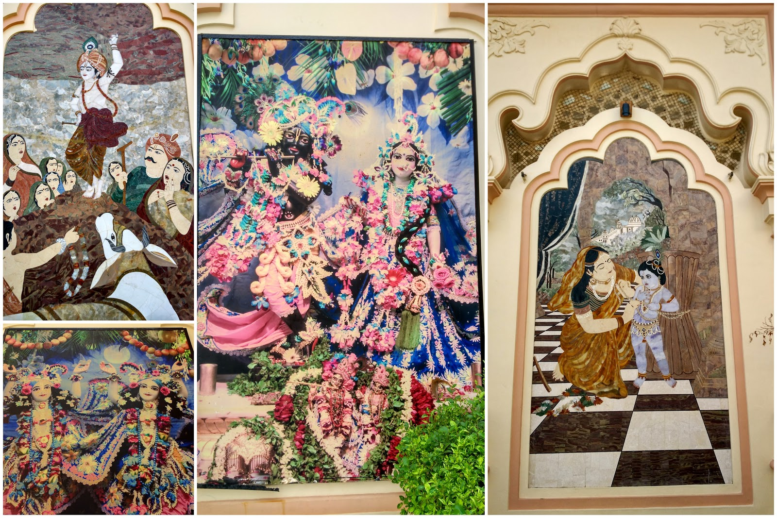 ISKCON Temple lord krishna paintings, Vrindavan, Uttar Pradesh