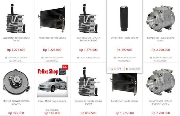 Info harga-harga Sparpart Mobil Toyota Soluna