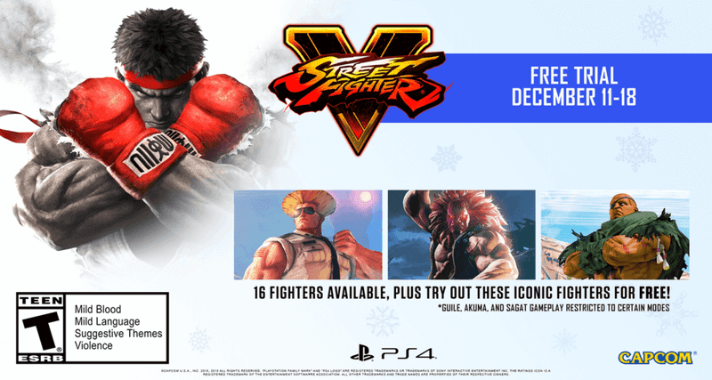 Street Fighter V: Arcade Edition Free Trial From December 11-19 On PlayStation 4 And Steam