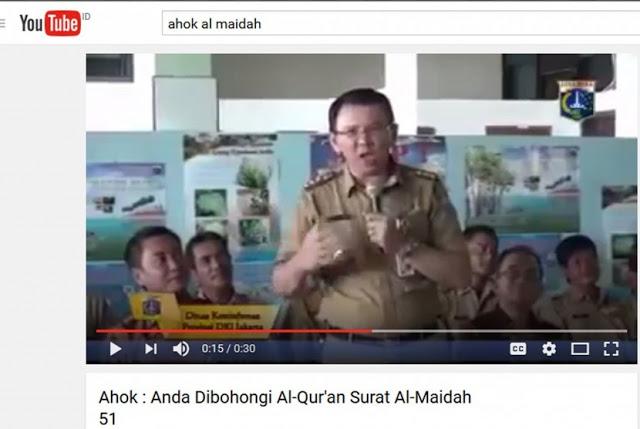 NU Jakarta Menilai Ucapan Ahok Tidak Nistakan Agama