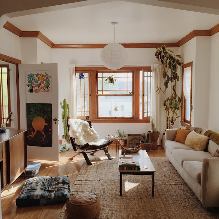A Warm and Inviting Boho-style LA home