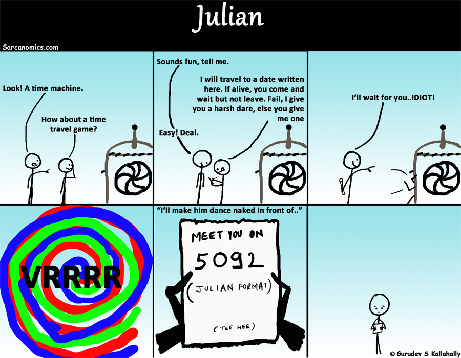 Fun Time travel game using the Julian date format
