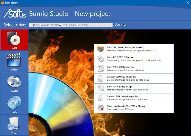 Screenshot Asoftis Burning Studio 1.6 Full Version