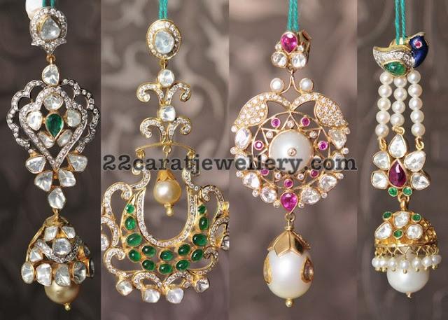 Large Two Tier Diamond Earrings