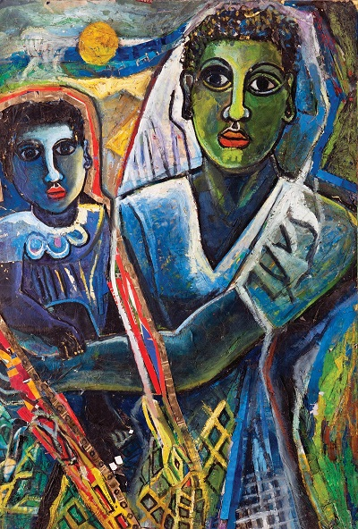 "by Geoffrey Mukasa - ""Mother and Child"", circa 1992-1998"