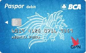 Kartu ATM BCA Blue GPN