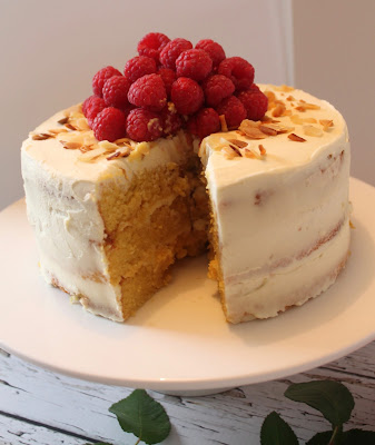 Orange, almond and mascarpone layer cake (gluten free)