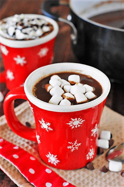 Mug of The BEST Hot Chocolate {made in the Slow Cooker or on the Stove Top} Image