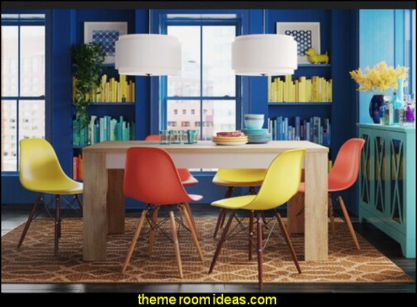 decorate with color color your world colorful decor colorful furniture wall colors rainbow decor