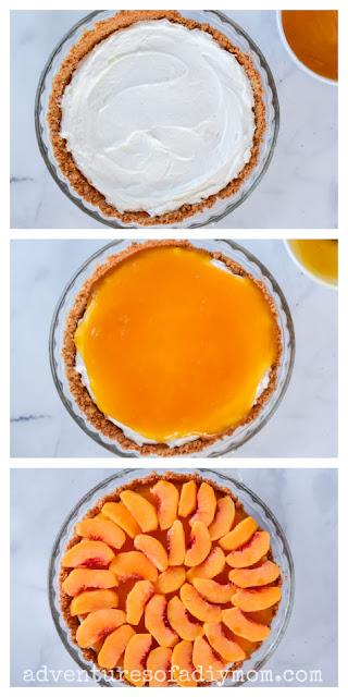 steps to assemble a peach pie