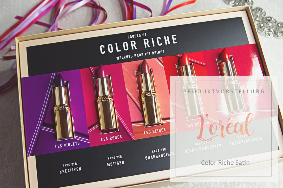L'Oreal – Color Riche Satin Lippenstifte - Review & Swatches