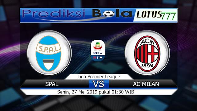 Prediksi SPAL Vs AC Milan Senin 27 Mei 2019
