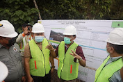 Asisten Perekonomian dan Pembangunan Sekda Aceh, Ir. Mawardi, Tinjau progres Pengerjaan Bendung Daerah Irigasi Sigulai