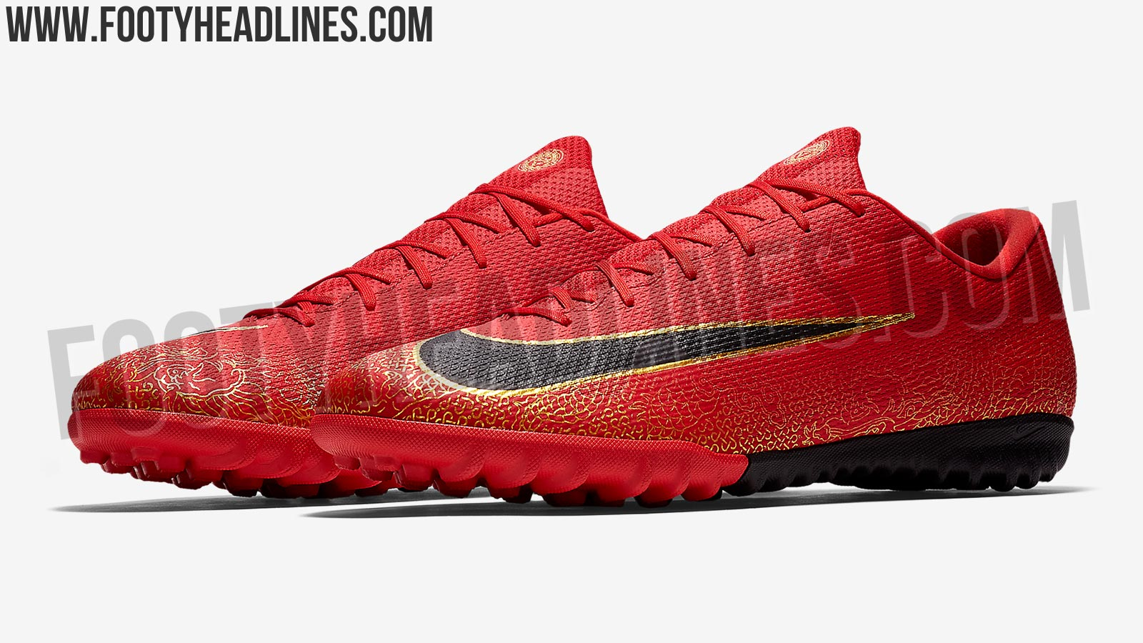 EXCLUSIVE  Red   Black   Gold Nike Mercurial Cristiano Ronaldo Boots ... 745cb836fc68