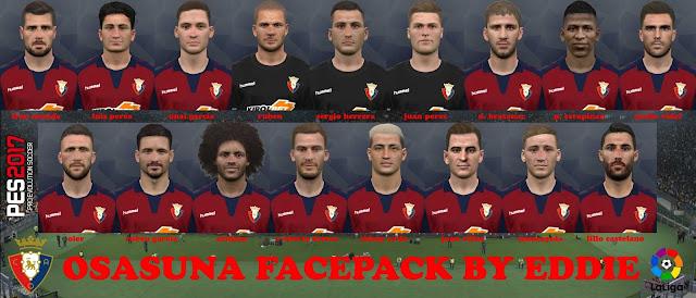 PES 2017 CA Osasuna Facepack by Eddie