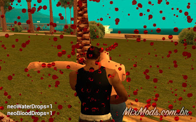 gta sa mod skygfx neo blood drops gotas de sangue na tela screen